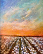 Loved painting this one 30x40. #cotton f