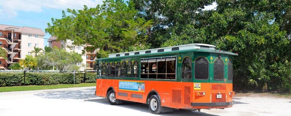 Free Trolley to Siesta Village