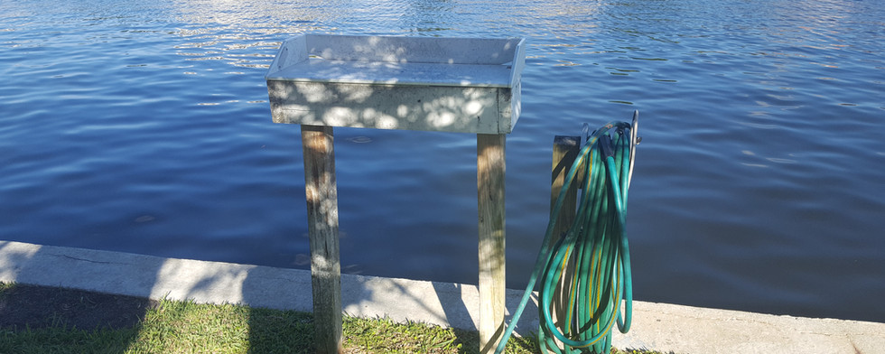 Fish Cleaning station on bay