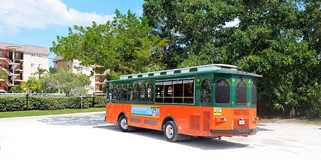 Trolley at Turtle Beach