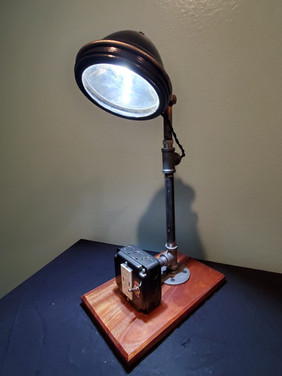 Headlight from 1940's Police Car and USB charger