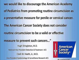 The American Cancer Society and circumcision