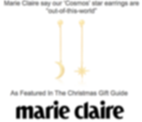 Marie Claire Magazine Kendall Hill Star and Moon Gold Earrings Christmas Gift Guide