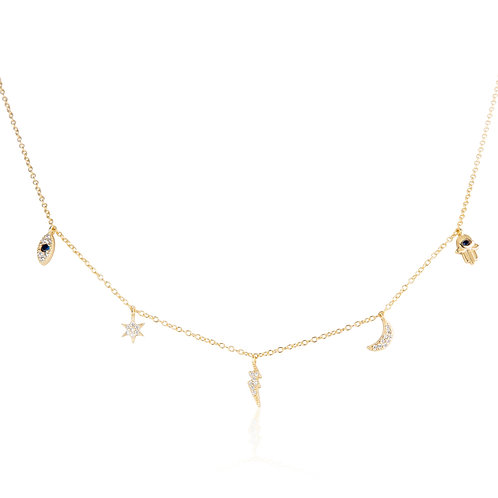 Talisman - Gold, Lucky Charm Necklace