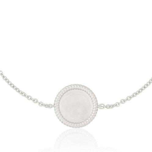Signature - Silver, Coin Bracelet