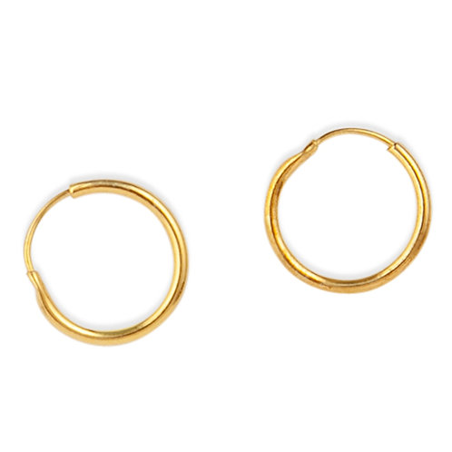 Signature - Gold, Sleeper Hoop Earrings