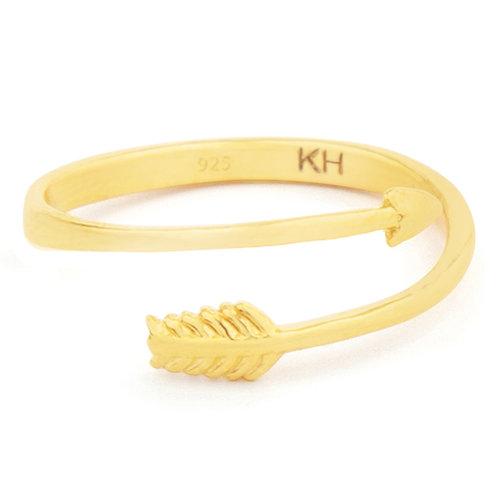 Romance - Gold, Arrow Ring