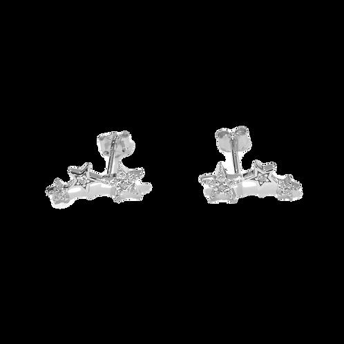 Talisman - Silver, Shooting Star Charm Earrings