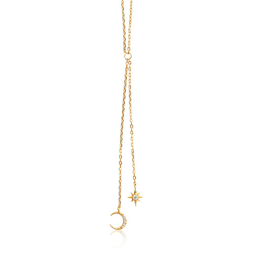 Cosmos - Gold, Star & Moon Necklace