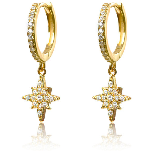 Talisman - Gold, Star Charm Earrings