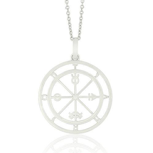 Cosmos - Silver, Tarot Necklace