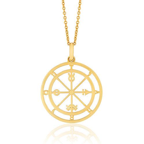 Cosmos - Gold, Tarot Necklace
