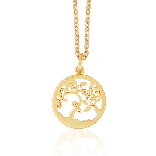 Talisman - Gold, Tree Necklace