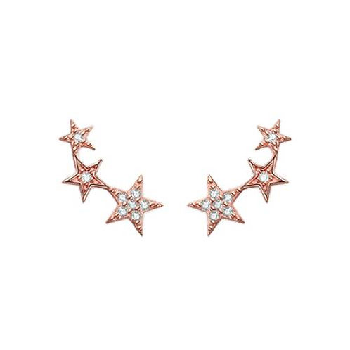 Talisman - Rose Gold, Shooting Star Charm Earrings
