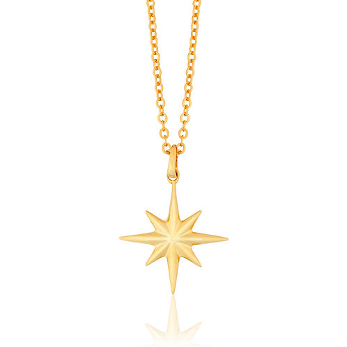 Cosmos - Gold, Star Necklace