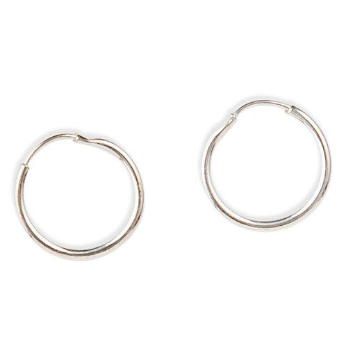 Signature - Silver, Sleeper Hoop Earrings