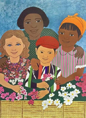 17. Children With Flowers