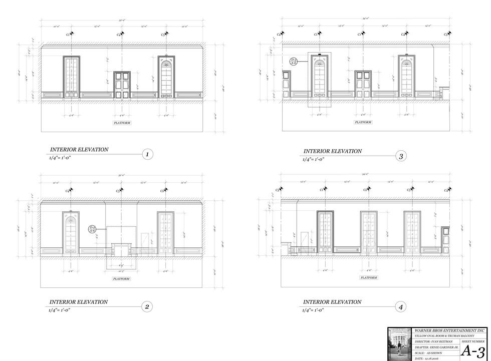 Oravl Office Drafting Plate: Interior & Elevations
