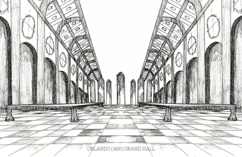 Orlando - Grand Hall Sketch