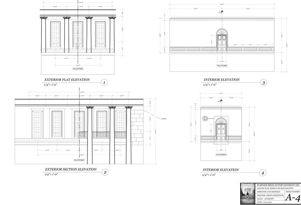 Oravl Office Drafting Plate: Interior & Exterior Elevations