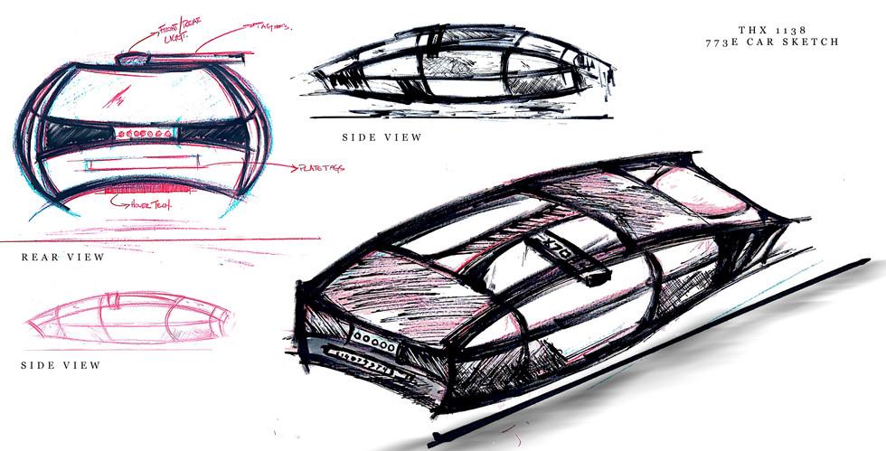 THX 1138 - Car Illustration