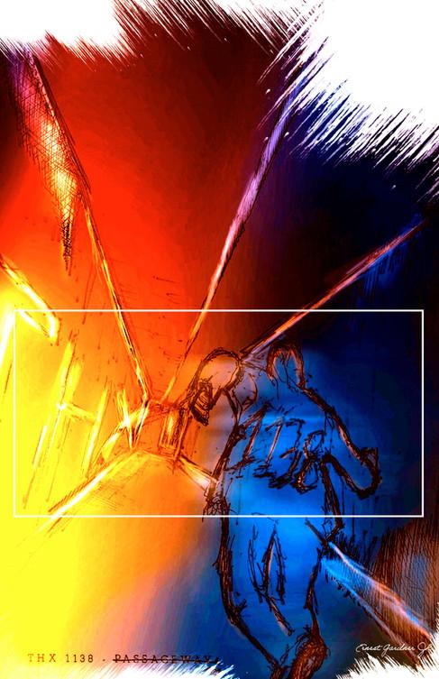 THX 1138 - Passageway Illustration