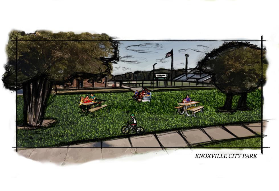 Knoxville - City Park Set Sketch