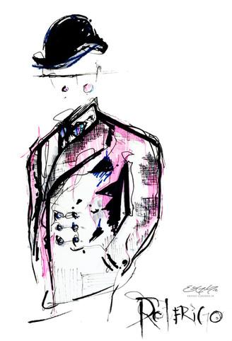 Art Deco Character - illustration