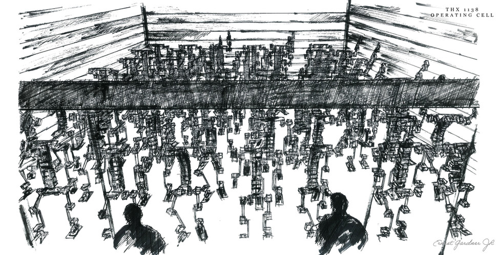 THX 1138 - Operating Cell Sketch