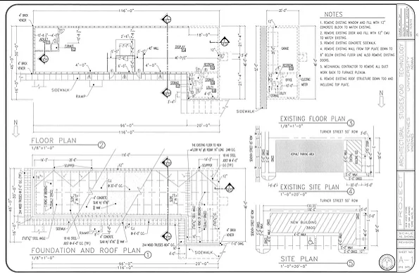 Drafting Plate: Commercial Building
