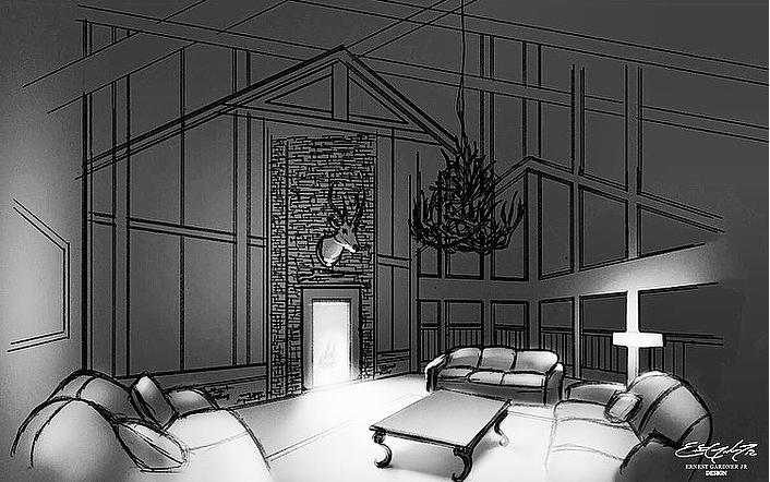 Dark Cabin - sketch