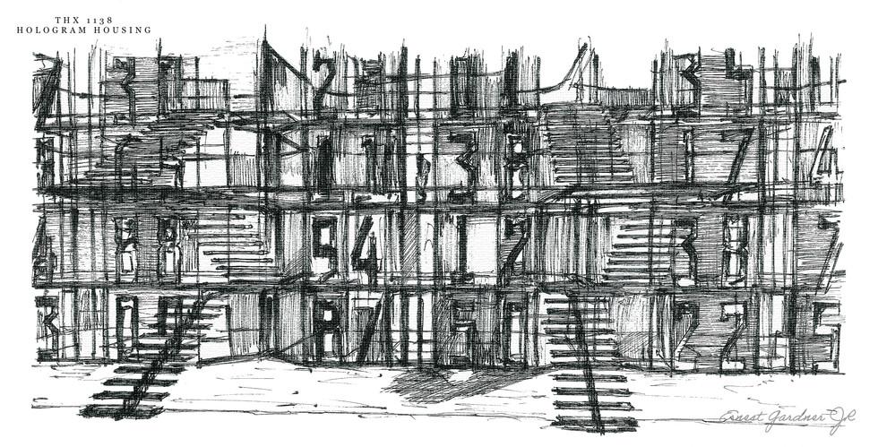 THX 1138 - Hologram Housing Sketch