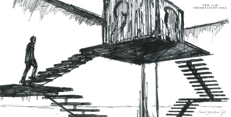 THX 1138 - Observation Cell Sketch