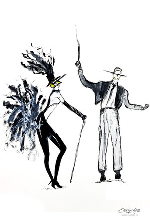Art Deco Character - illustrations