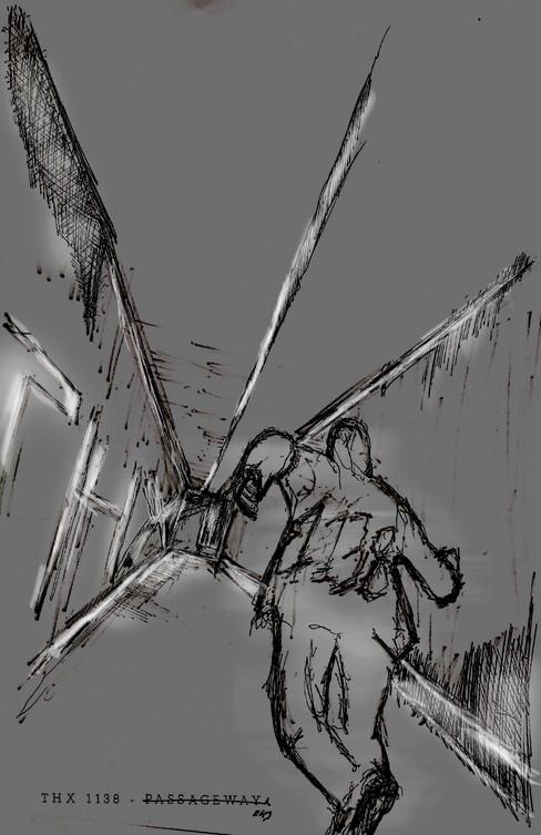 THX 1138 - Passageway Sketch