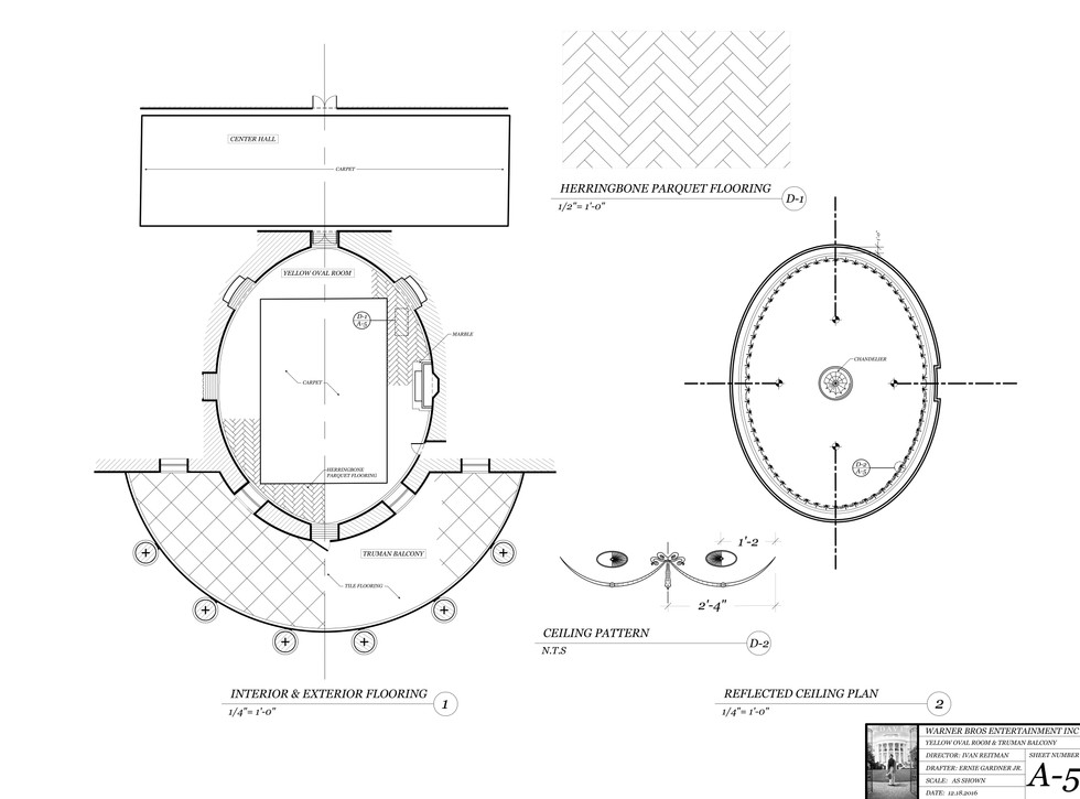 Oravl Office Drafting Plates: Floor and Ceiling