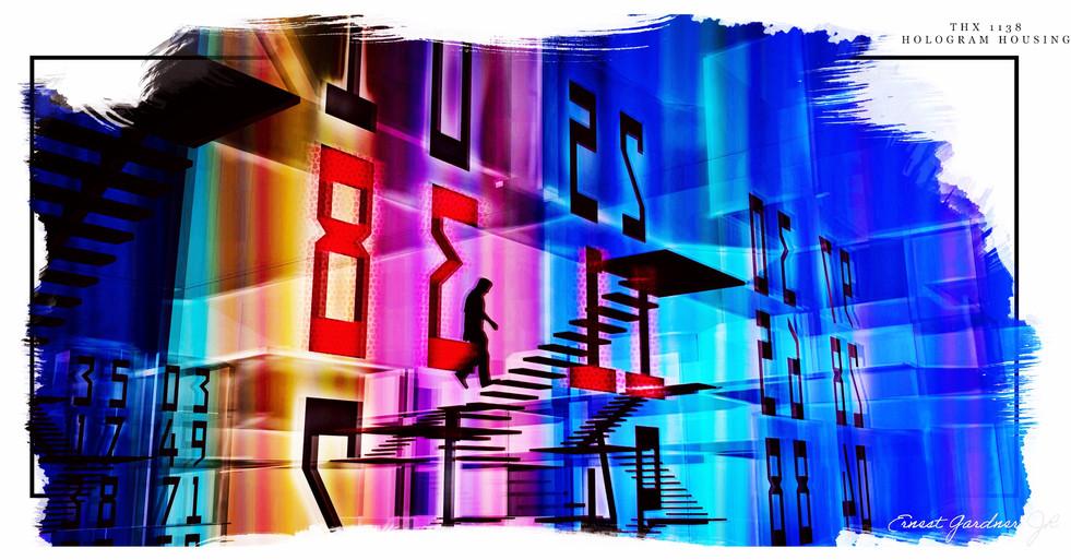 THX 1138 - Hologram Housing Illustration