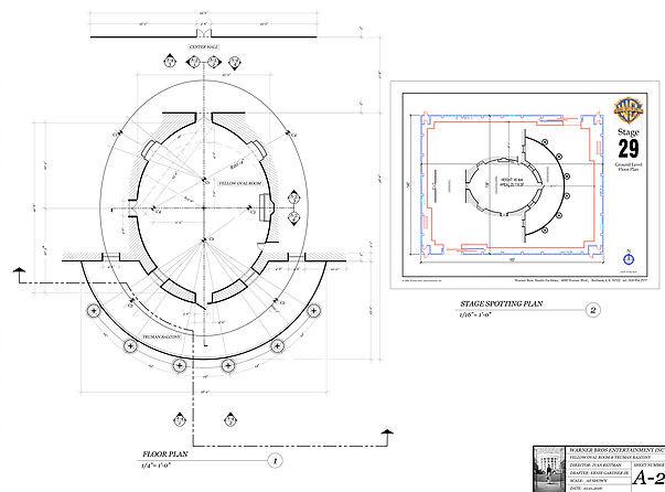 Oravl Office Drafting Plate: Interior & Exterior Floor