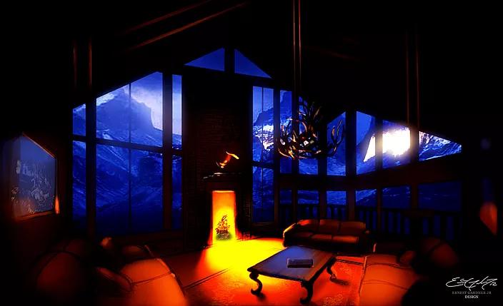 Dark Cabin - illustration