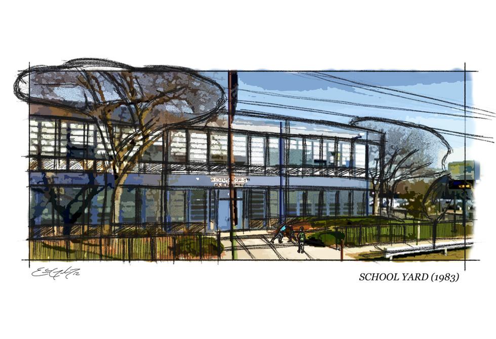 Knoxville - Ext. School Illustration