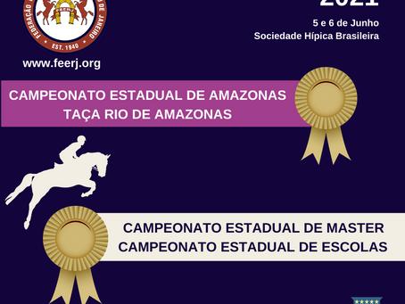 Feerj realiza Estadual de Amazonas, Masters, Escolas e Taça Rio de Amazonas