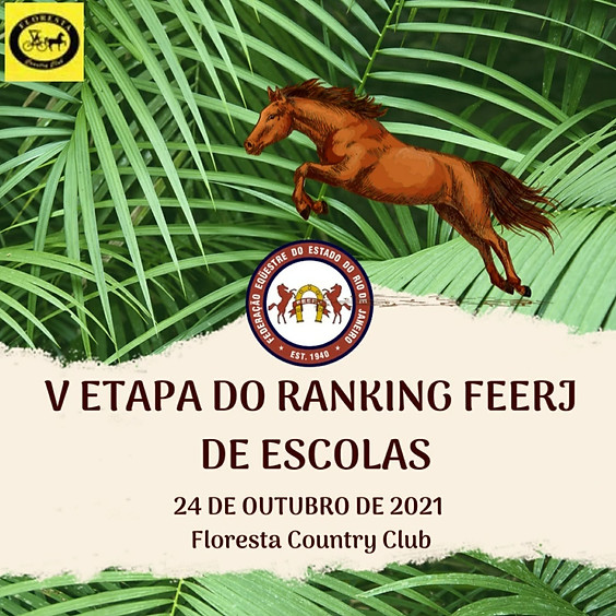 V Etapa do Ranking FEERJ  de Escolas - CÓDIGO EVENTO 3161