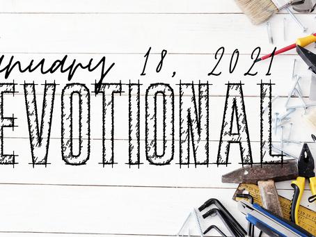 Devotional - January 18, 2021