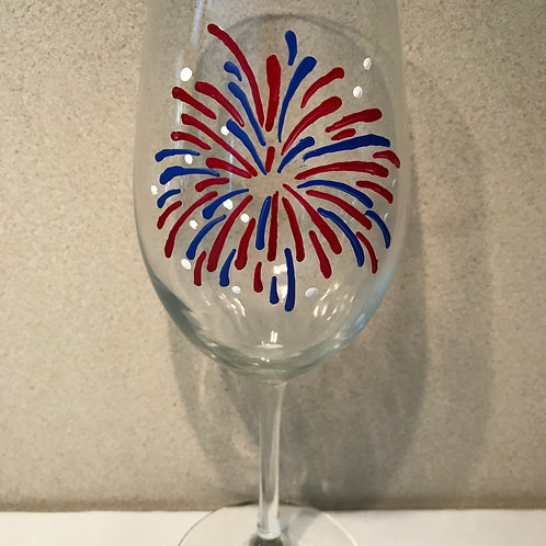 Large fireworks one sided glass