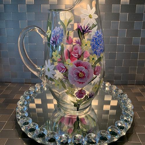 Floral Bouquet on 90 ounce pitcher
