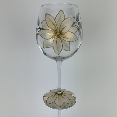 Cream Gold & Silver Poinsettia
