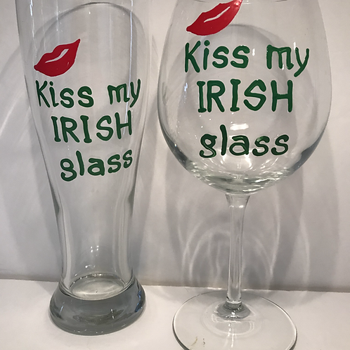 Kiss My Irish Glass