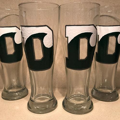 Delbarton LOGO Glass