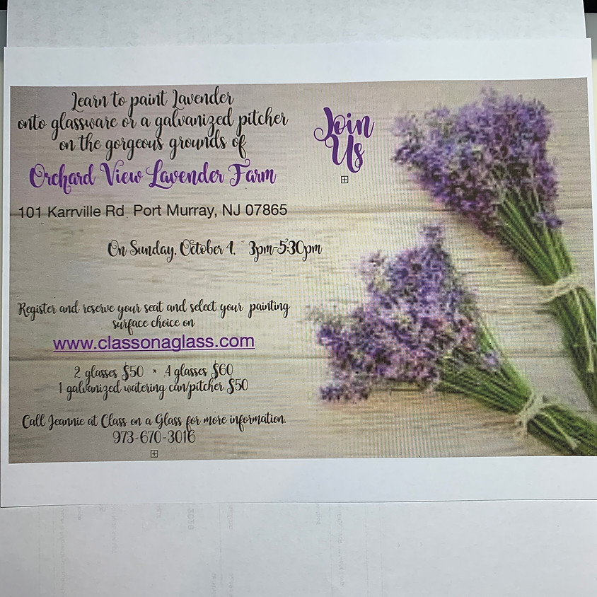 Painting Lavender at Orchard View Lavender Farm Sunday, 10/4/20