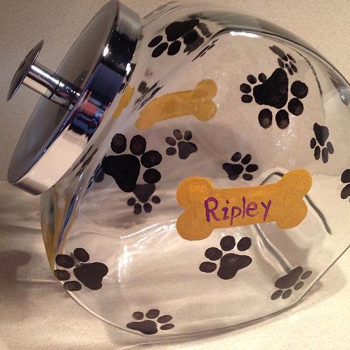 Dog/cat treat jar